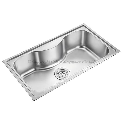 Crizto Single Bowl Stainless Steel Sink