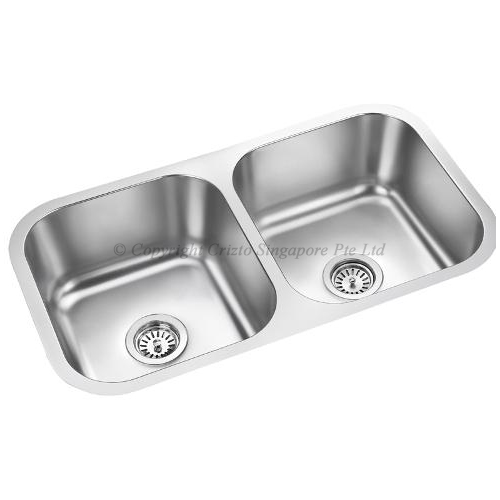 Crizto Double Bowl Stainless Steel Sink